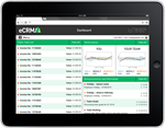 eCRM software dashboard / home page
