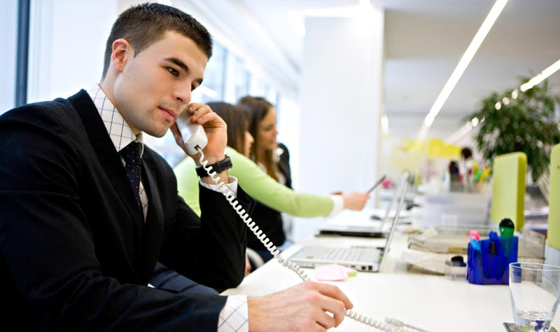 ERP software for trading company - image of man on telephone