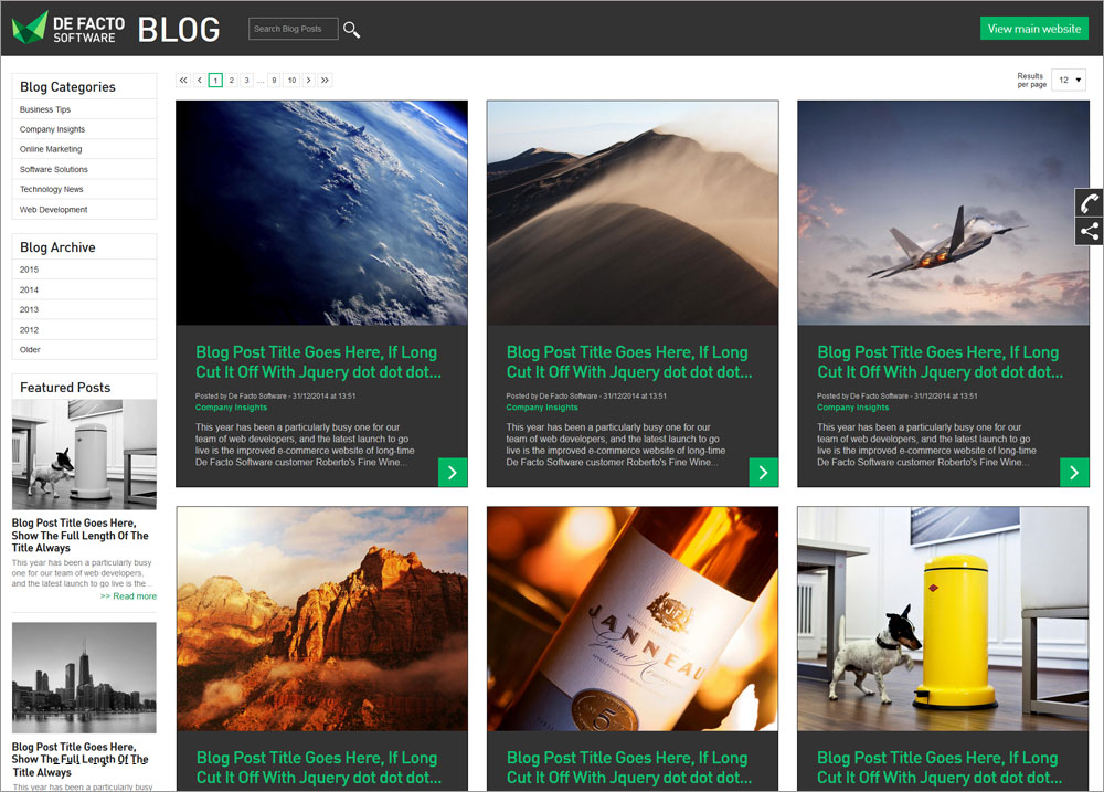Custom-built blogs